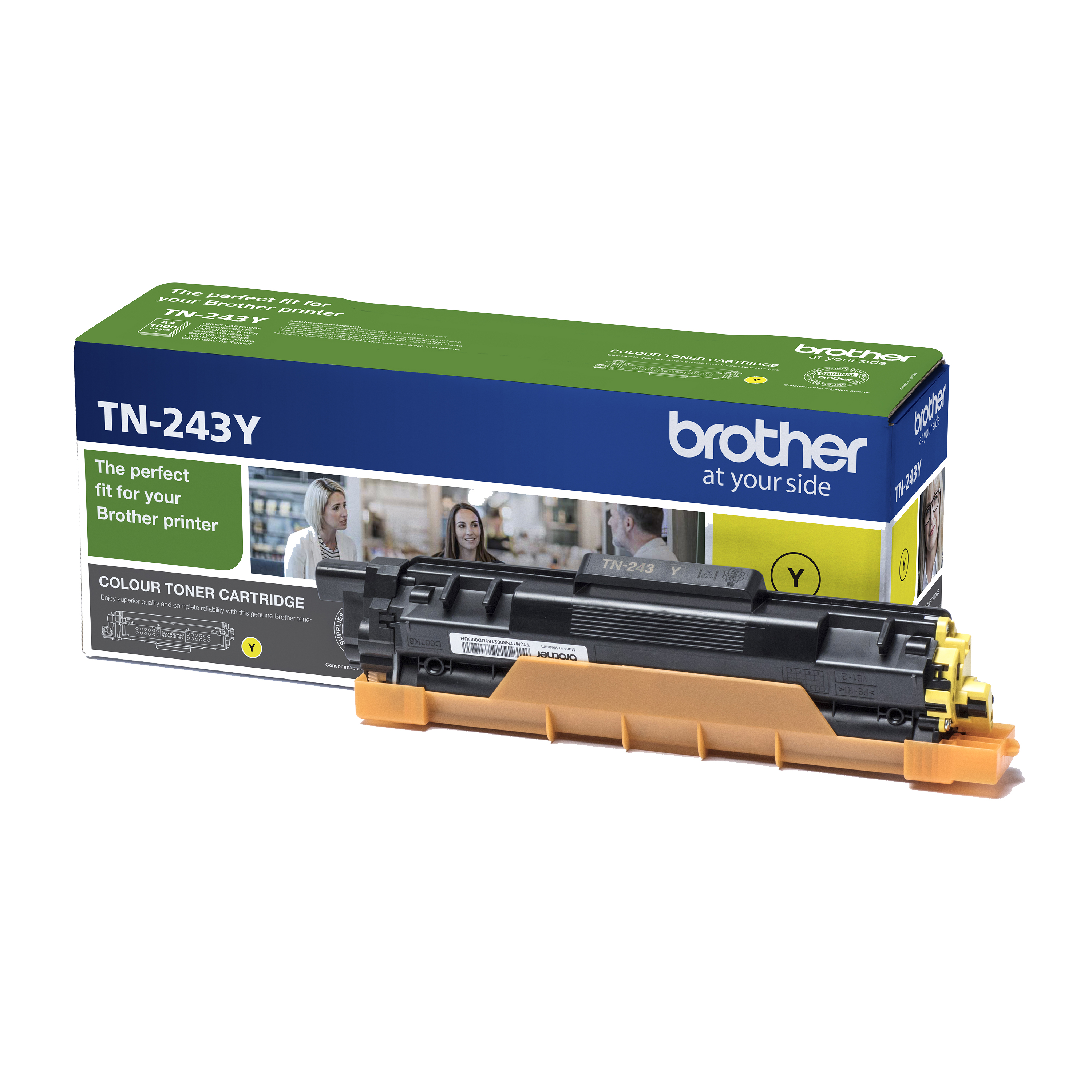 Brother TN243Y Toner Cartridge Page Life 1000pp Yellow Ref TN243Y