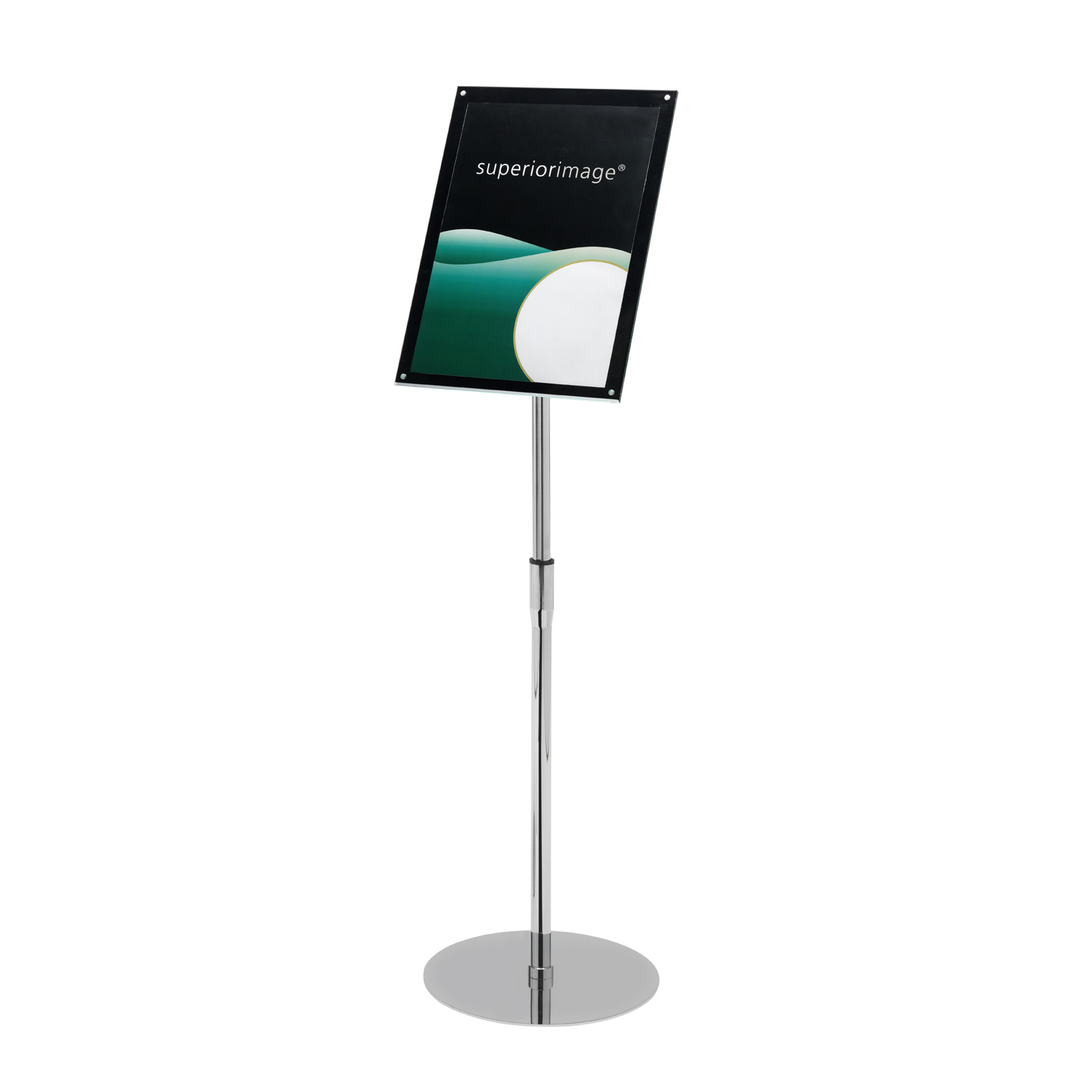 Literature Holders Deflecto Sign Holder with Bevel Magnetic Cover Floor Standing Heavyweight A4 Ref DE790845