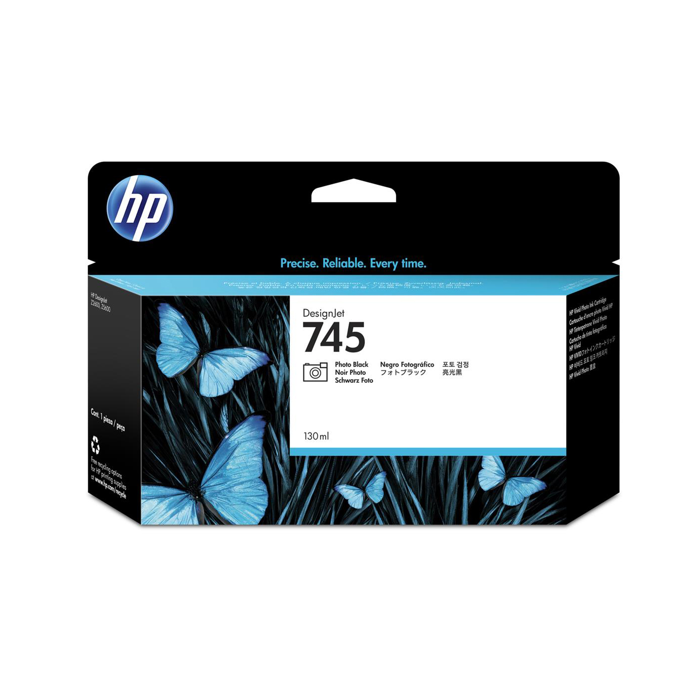 HP 745 130ml DesignJet Photo Black Ink Cartridge F9J98A *3 to 5 Day Leadtime*
