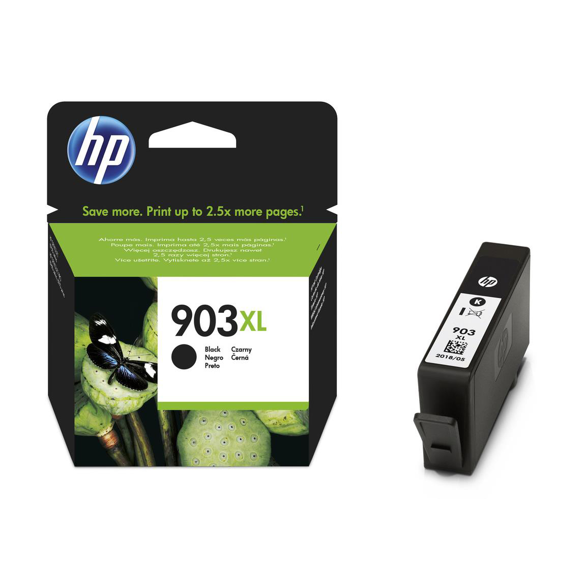 Hewlett Packard [HP] No.903XL Ink Cartridge High Yield Page Life 825pp 21.5ml Black Ref T6M15AE