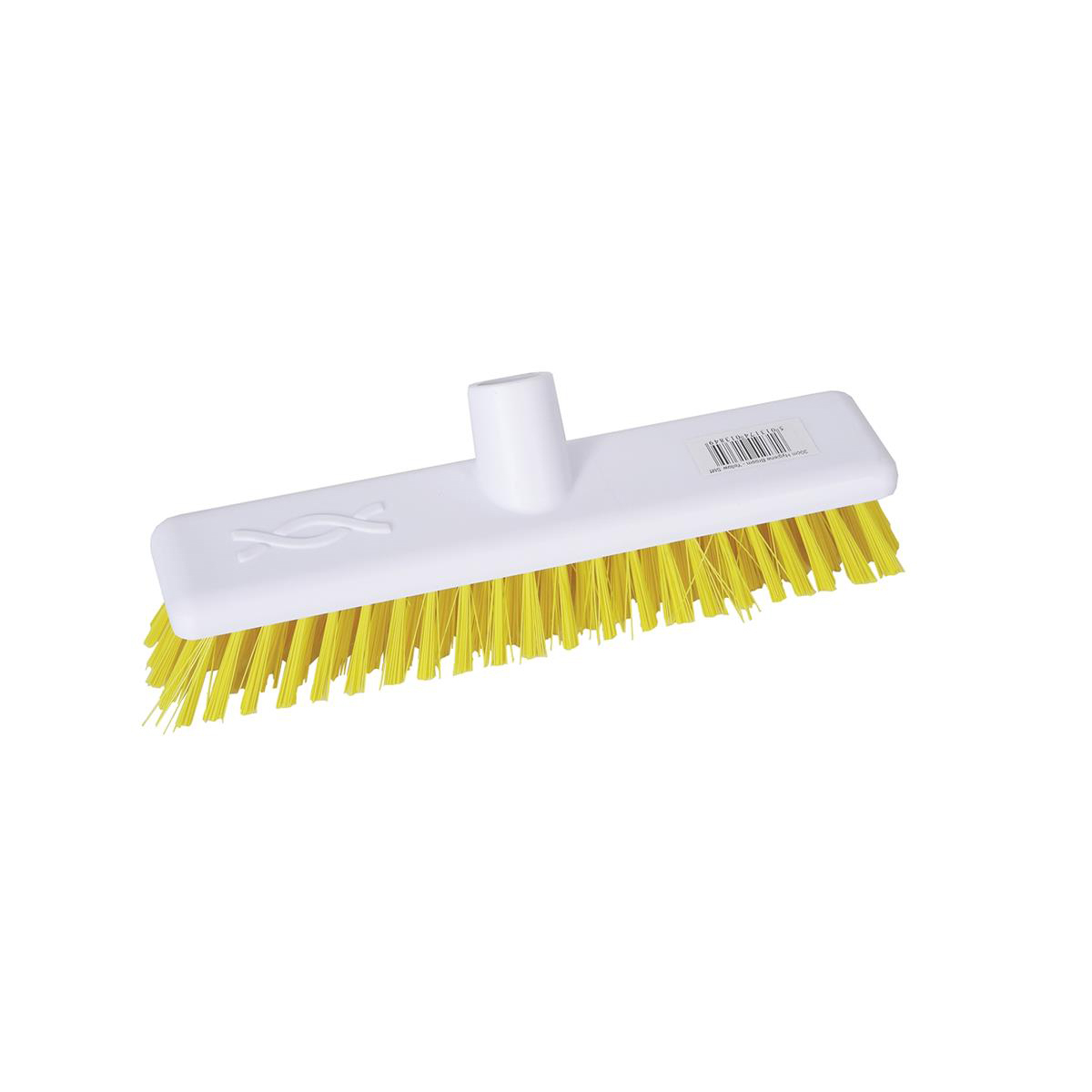 Robert Scott & Sons Abbey Hygiene 12inch Washable Hard Broom Head Yellow Ref 102903YELLOW