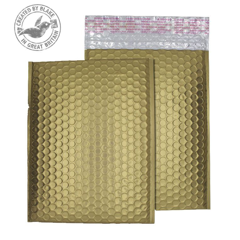 Purely Packaging Bubble Envelope P&S C5+ Metallic Gold Ref MTGOL250 Pk100 *10 Day Leadtime*