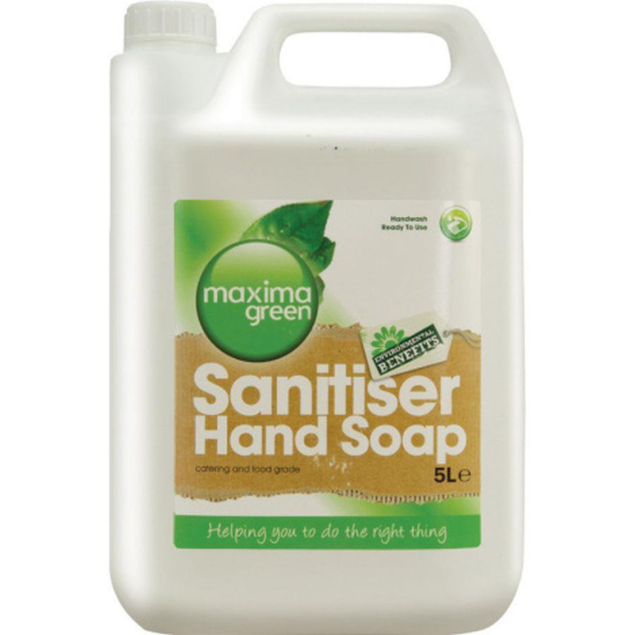 Maxima Green Sanitiser Hand Soap 5 Litre Ref 0604073