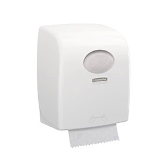 Kimberly Clark AQUARIUS SLIMROLL Rolled Hand Towel Dispenser W298xD189xH324mm Plastic White Ref 7955