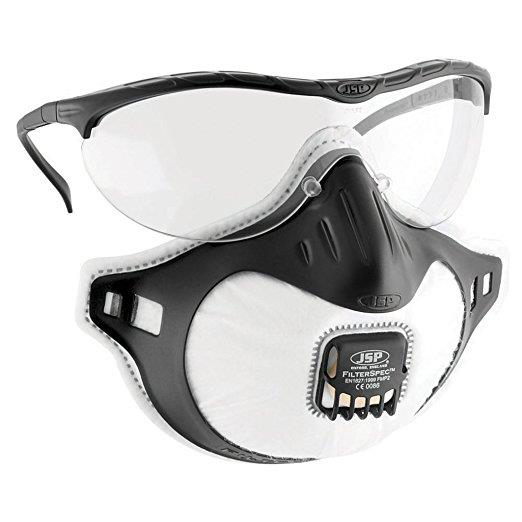 Goggles JSP Filterspec Pro FMP2 Safety Spectacles Anti-scratch Black/Clear Ref ASG124-121-1G1