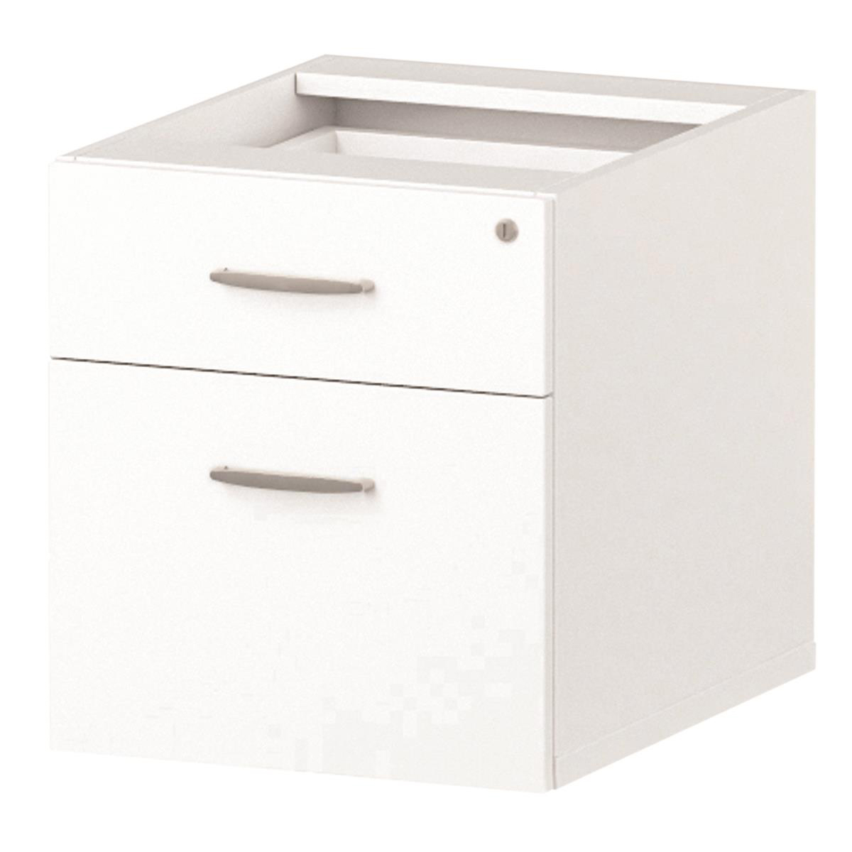 Trexus 2 Drawer Fixed Pedestal 426x463x480mm White Ref I001642