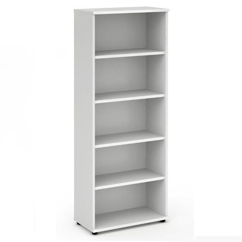 Trexus Office Very High Bookcase 800x400x2000mm 4 Shelves White Ref I000172