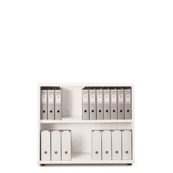 Sonix Low Bookcase 1000x425x870mm 1 Shelf Polar White Ref w9875wh