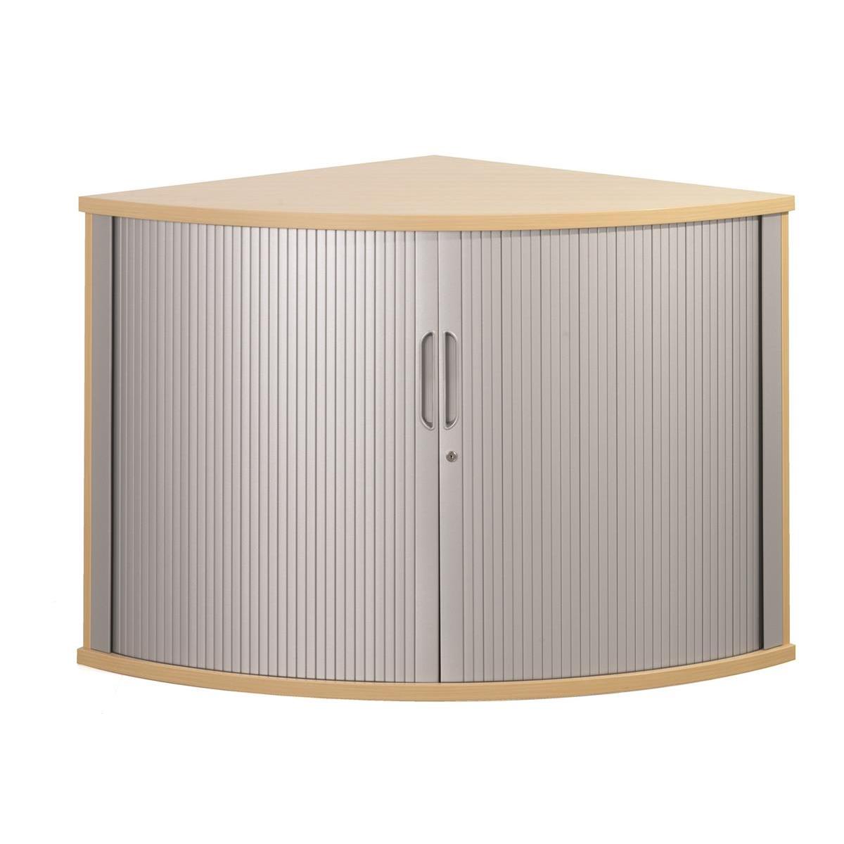 Sonix Tambour Corner Cupboard 800x800x730mm Rich Beech Ref w9050b