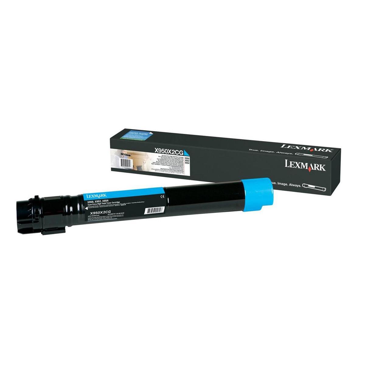 Lexmark X95x Laser Toner Cartridge Extra High Yield Page Life 22000pp Cyan Ref X950X2CG