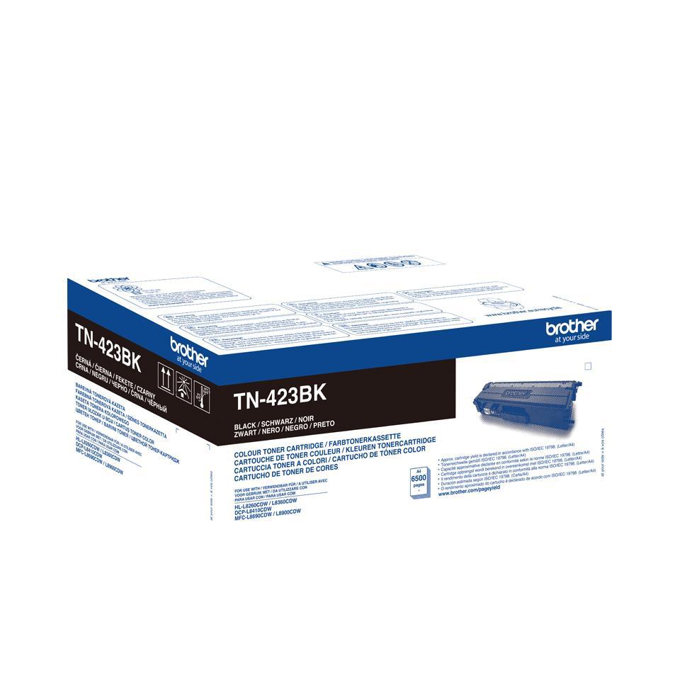 Brother TN423BK Laser Toner Cartridge High Yield Page Life 6000pp Black Ref TN423BK