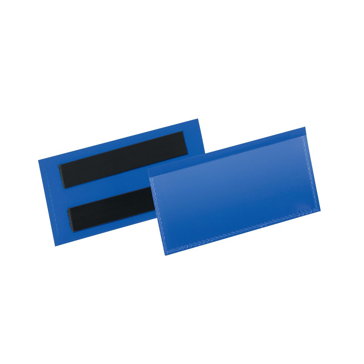 Durable Logistic Pocket Polypropylene with 2 Magnetic Strips 110x38mm Blue Ref 174107 [Pack 50]
