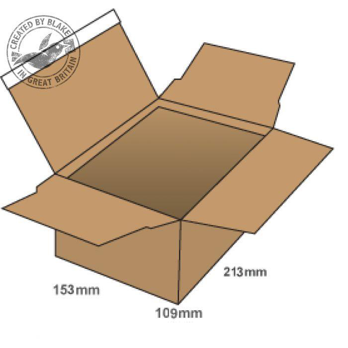 Blake Purely Packaging Postal Box P&S 213x153x109mm Kraft Ref PEB20 [Pk20] 10 Day Leadtime