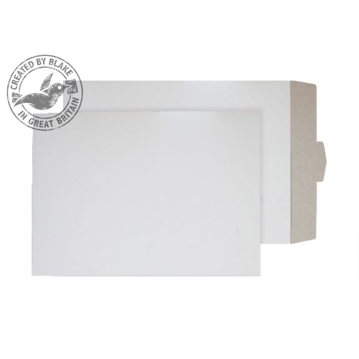 Board Backed Envelopes Purely Packaging Envelope All Board Tuck Flap 450x324mm White PPA27TUC Pack 100 *10 Day Leadtime*