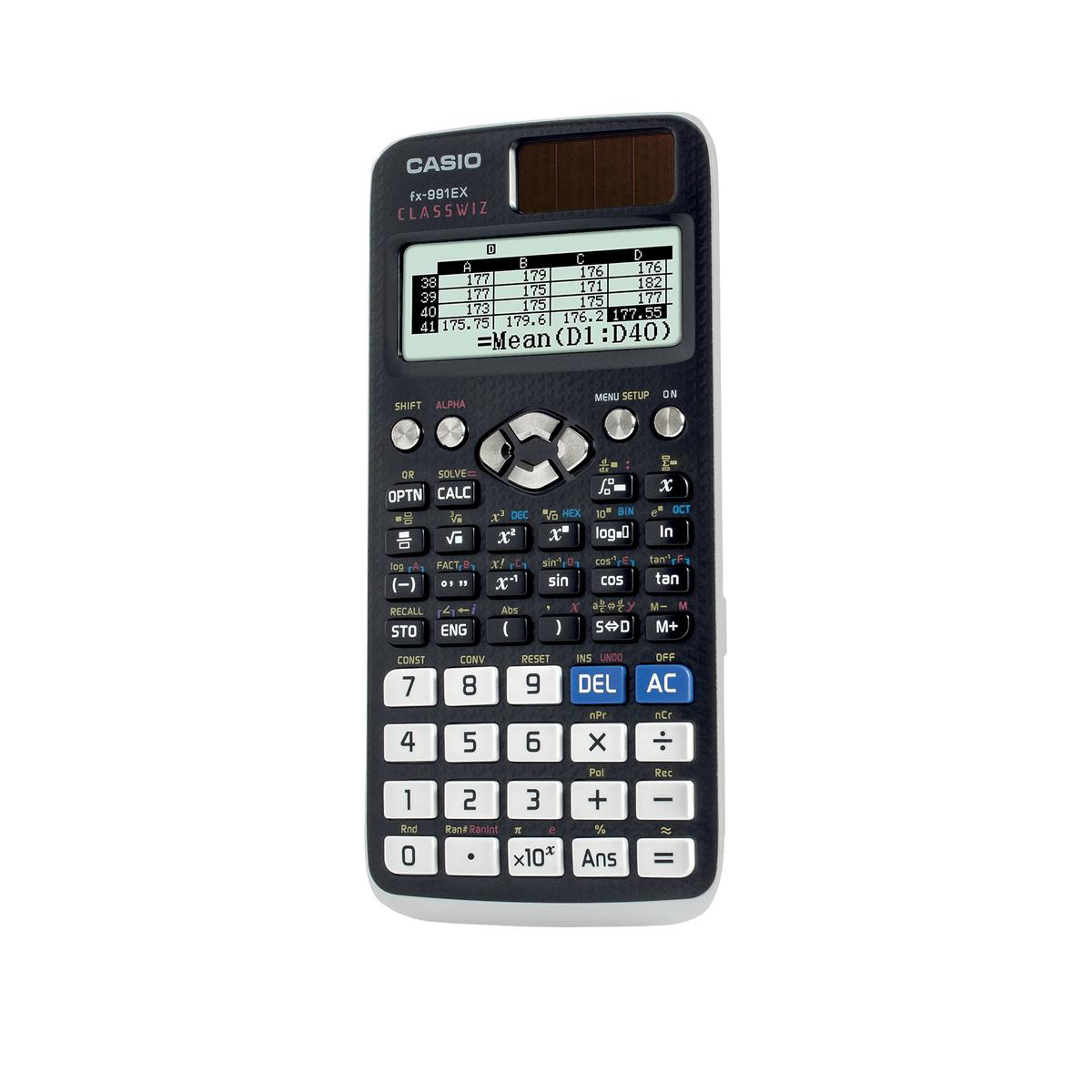 Scientific Calculator Casio Scientific Calculator Natural Display 552 Functions 77x11x165mm Graphite Ref FX-991EX