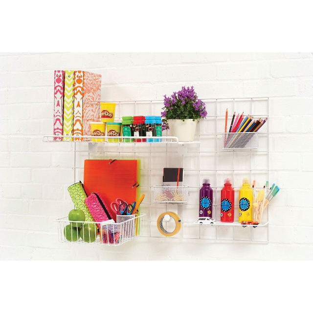 Wall-Store Frame Multifunctional with Hooks and Trays 2 Shelves 600x1000mm Ref SE2022