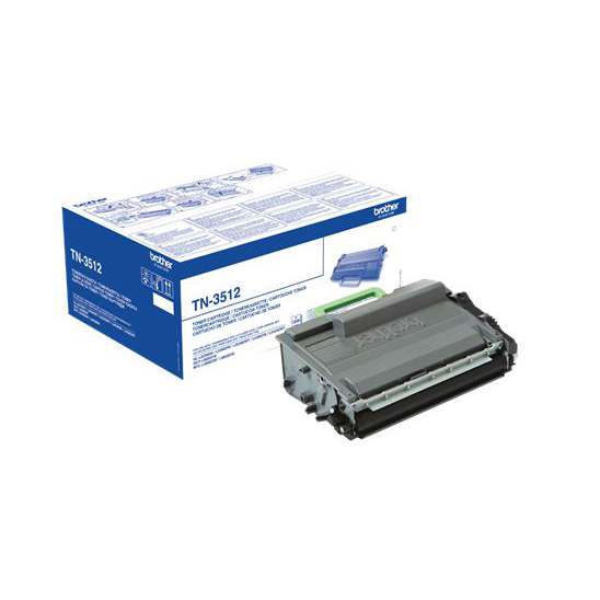 Brother Laser Toner Cartridge Super High Yield Page Life 12000pp Black Ref TN3512