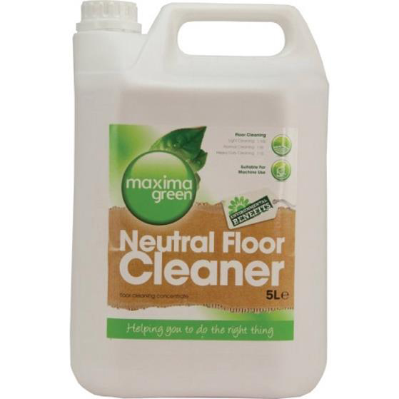 Maxima Green Floor Cleaner Neutral 5 Litre Ref 1006075 [Pack 2]