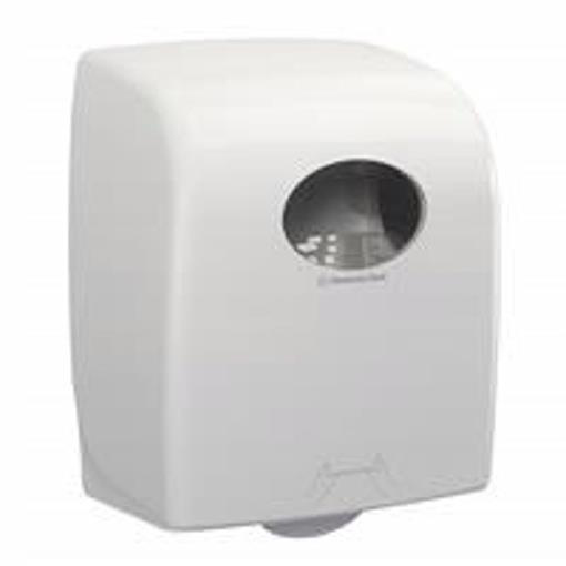 Kimberly Clark AQUARIUS Rolled Hand Towel Dispenser W297xD248xH374mm White Ref 7375
