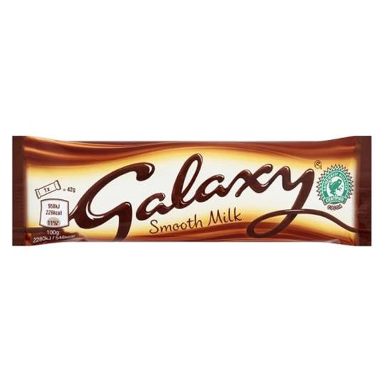 Galaxy Milk Chocolate Bars 42g - PK24 Ref 302863