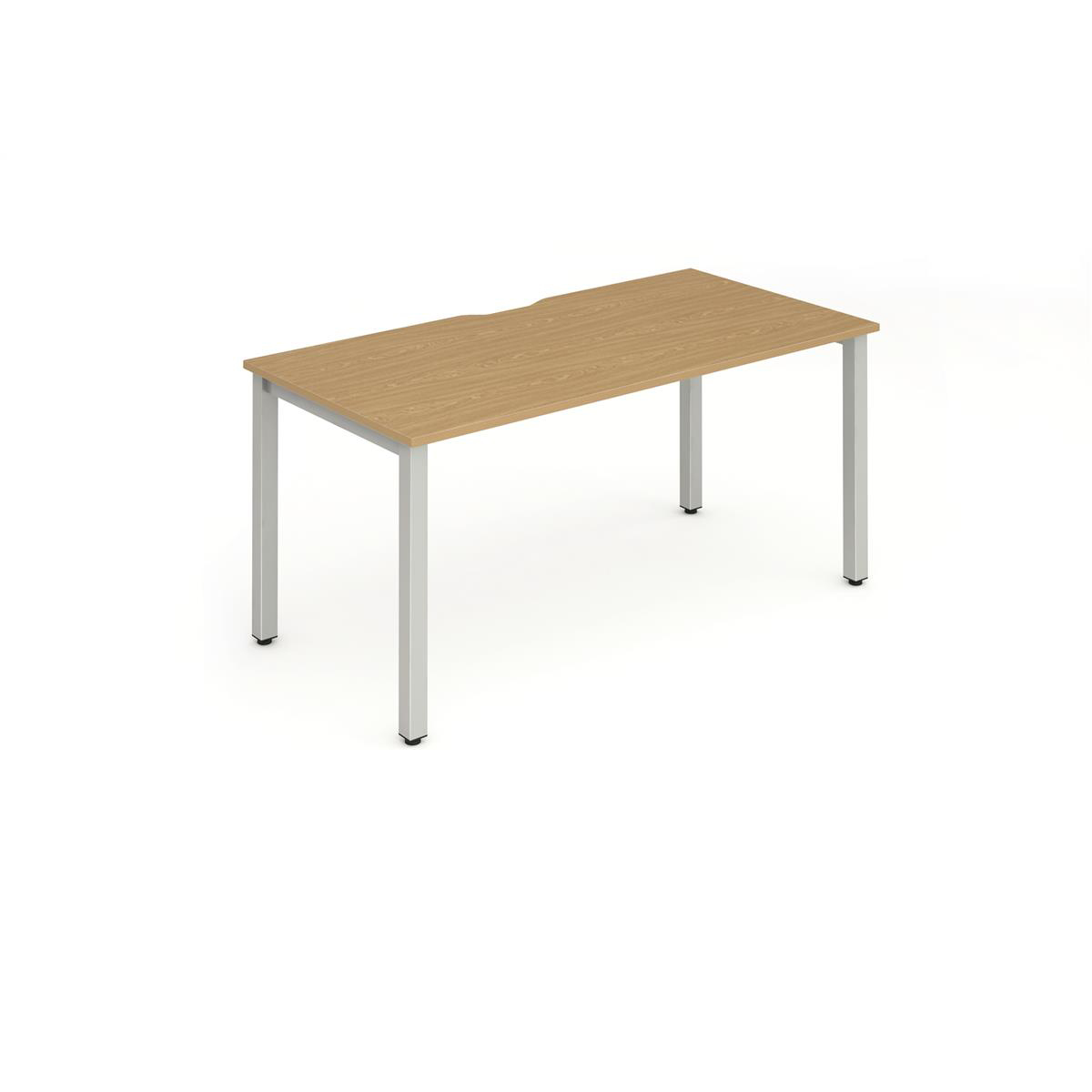 Trexus Bench Desk Individual Silver Leg 1600x800mm Oak Ref BE128