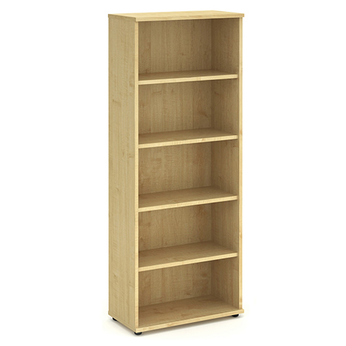 Bookcases Trexus Office Very High Bookcase 800x400x2000mm 4 Shelves Maple Ref I000232