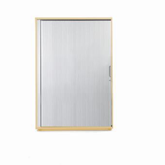 Sonix Midi Tambour Door Cupboard 1000x525x1200mm Acer Maple/Silver Ref w9869m