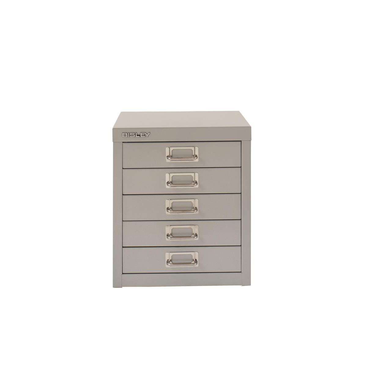 Image for Bisley SoHo 5 Draw Multidrawer 279x380x325mm Silver Ref H125NL-arn