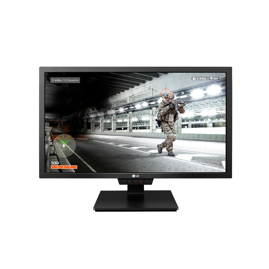 LG Full HD LCD Widescreen Monitor with Stand 24in Screen 567.6x240x388.7mm Black Ref 24GM79G-B