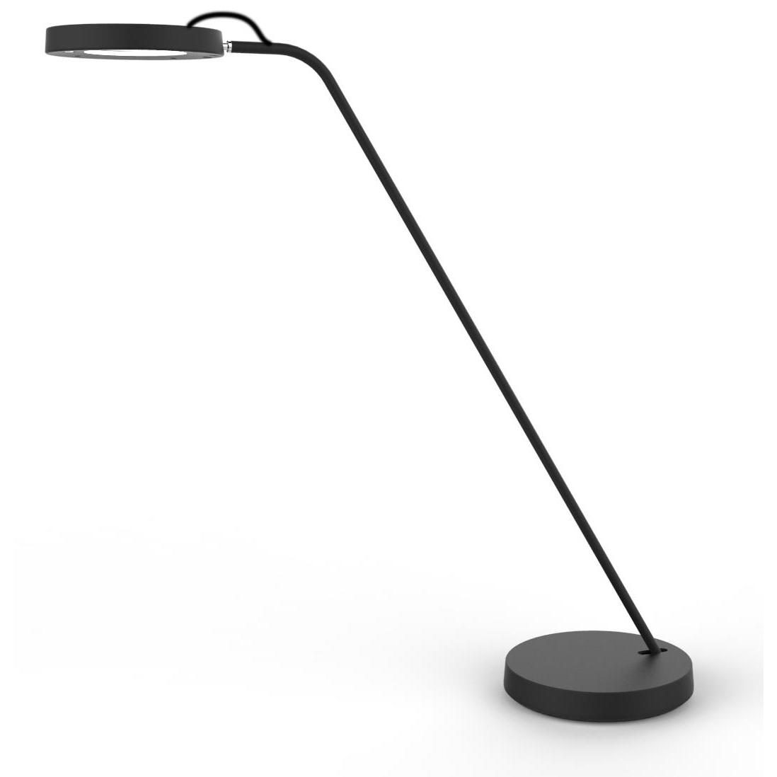 Unilux i-LIGHT LED Desk Lamp Adjustable Light 5W Height 510mm Base Diameter 190mm Black Ref 400101416