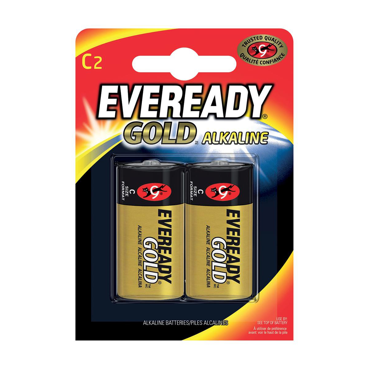 Eveready Gold Alkaline Batteries C/LR14 Ref E0087206 [Pack 2]