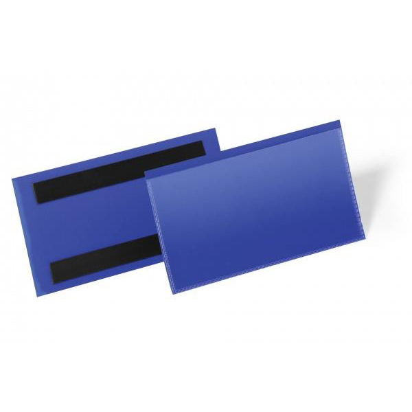 Durable Logistic Pocket Polypropylene with 2 Magnetic Strips 150x67mm Blue Ref 174207 Pack 50