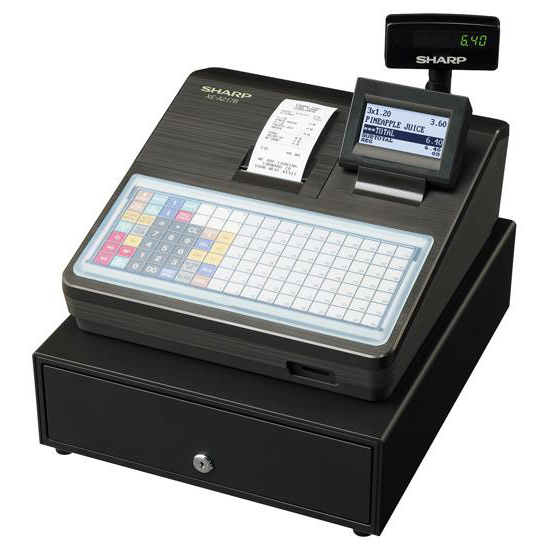 Cash registers Sharp Cash Register 2000 PLUs 99 Departments with Built-In SD Card Slot Black Ref XEA217B