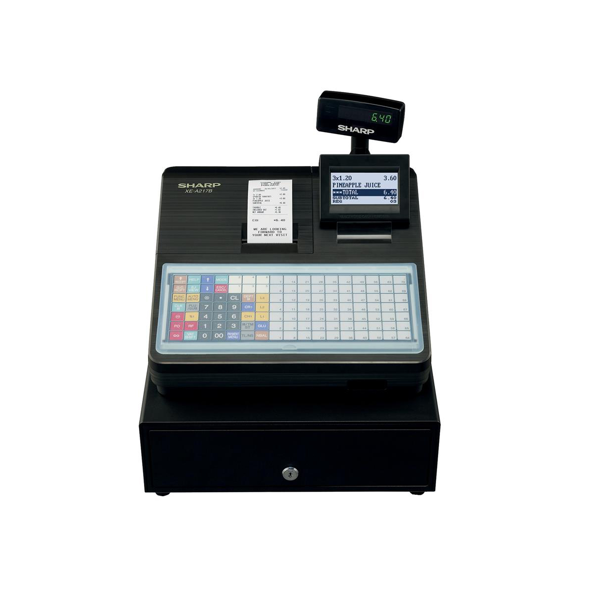 Sharp Cash Register 2000 PLUs 99 Departments with Built-In SD Card Slot Black Ref XEA217B