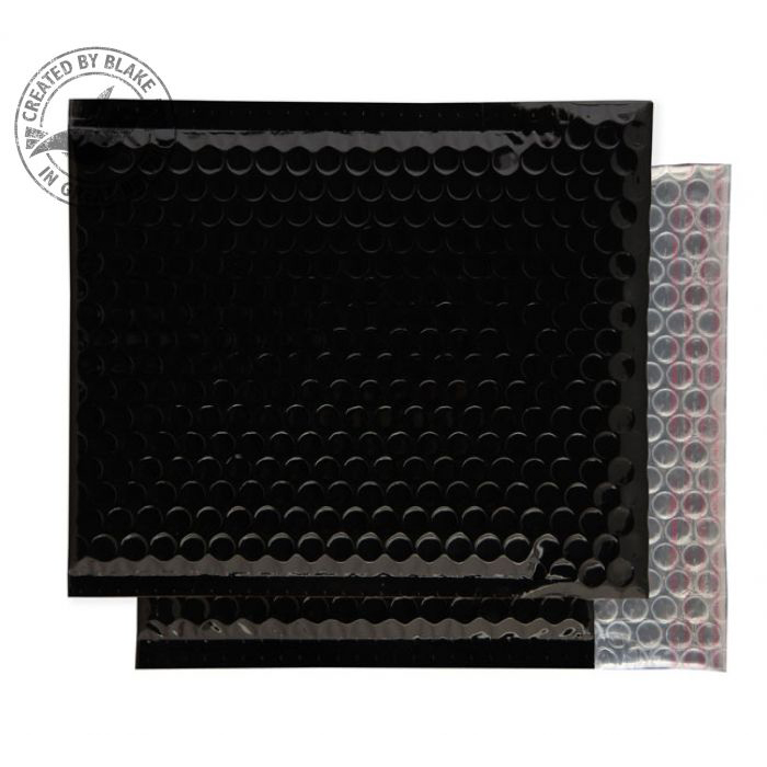 Purely Packaging Envelope P&S 165x165mm Padded Metallic Black Ref MBB165 Pk 100 *10 Day Leadtime*