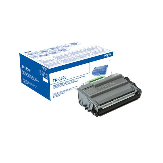 Brother TN3520 Laser Toner Cartridge Ultra High Yield Page Life 12000pp Black Ref TN3520