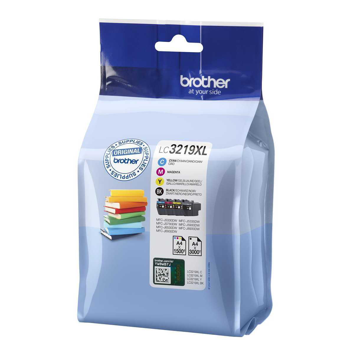 Brother LC3219XLVAL Inkjet Cart HY Page Life 3000pp Black Cyan/Mag/Yel 1500pp Ref LC3219XLVAL Pack 4