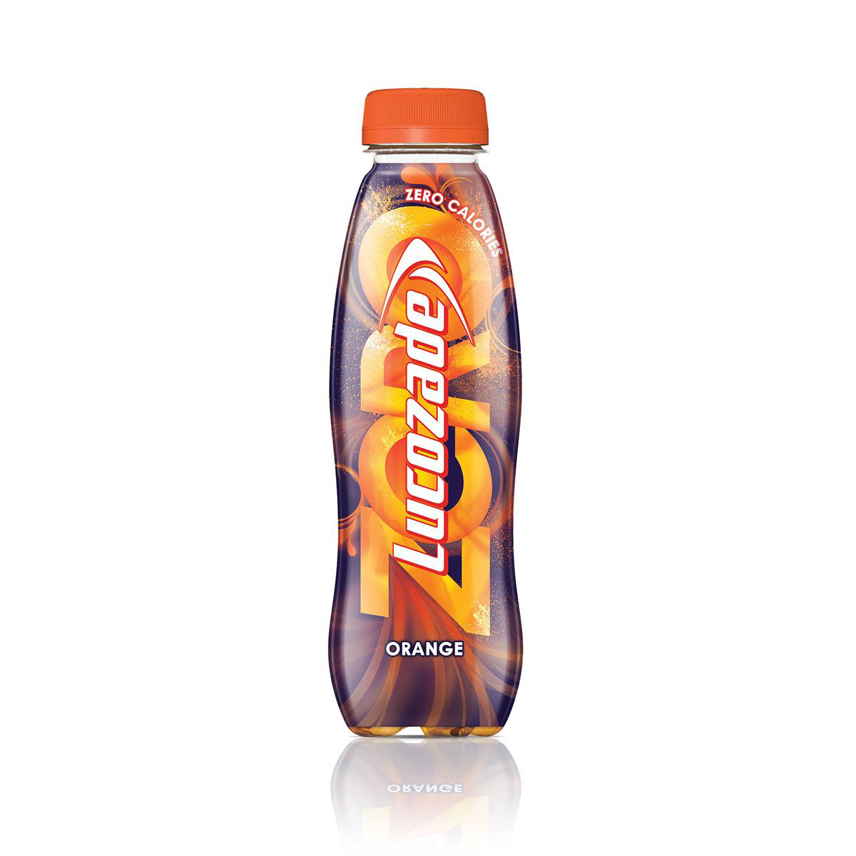 Lucozade Zero Orange Low Calorie Soft Drink Bottle Plastic 380ml Ref 96716 Pack 24
