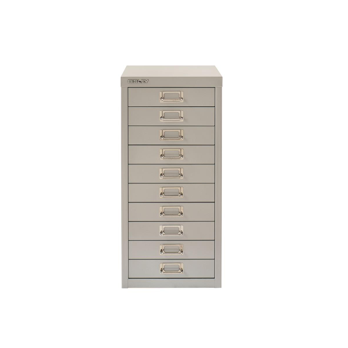 Filing cabinets or accesories Bisley SoHo 10 Drawer Multidrawer 279x380x590mm Grey Ref H2910NL-av4