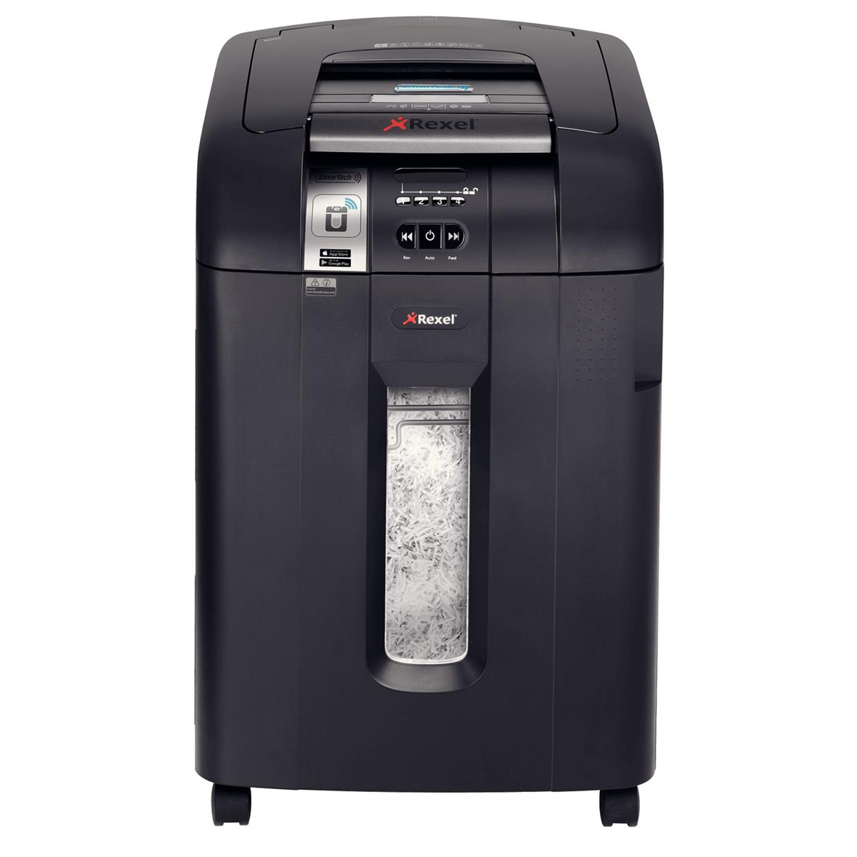 Rexel AutoPlus SmarTech 600X Shredder Cross Cut P-4 Ref 2103500S