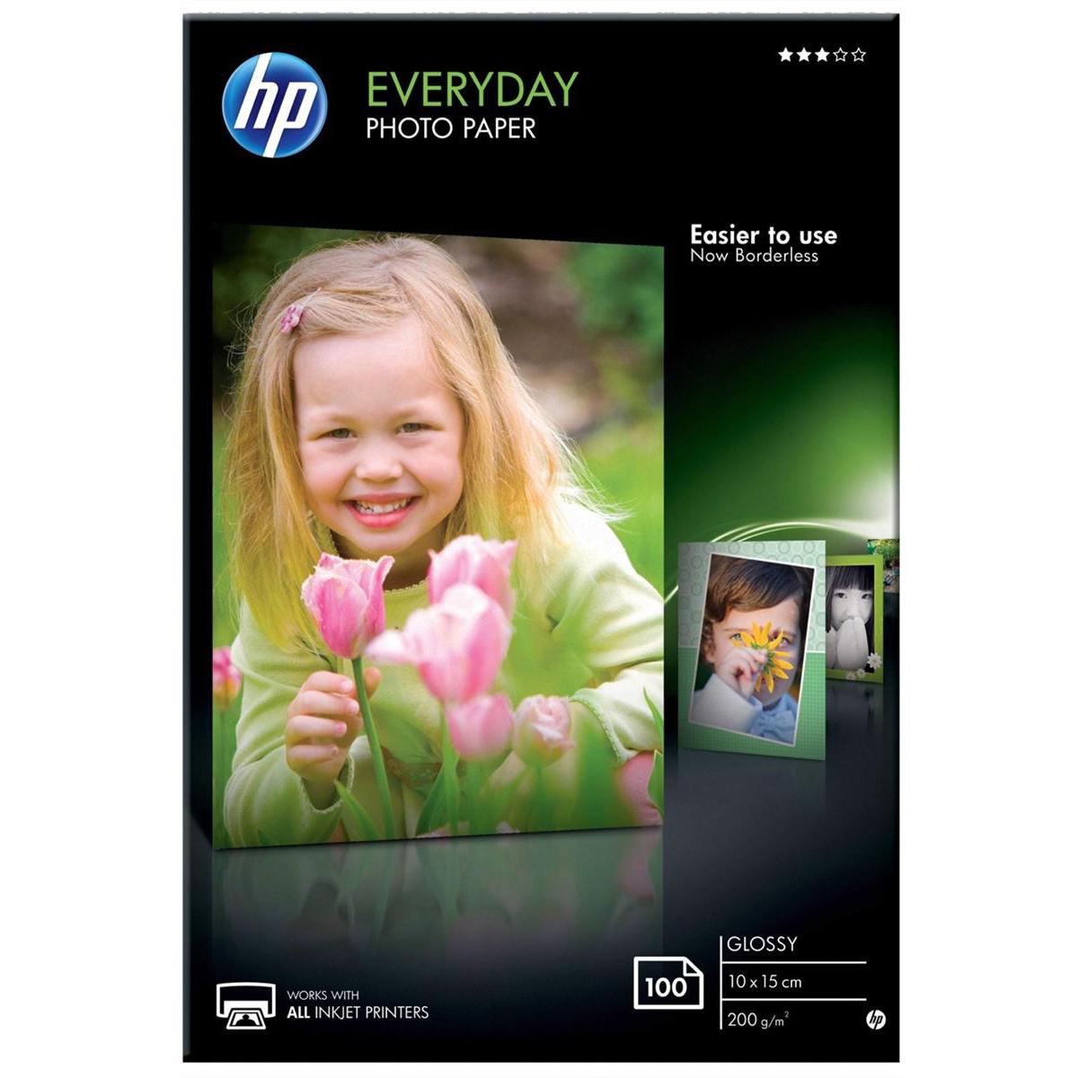 Hewlett Packard HP Everyday Photo Paper Gloss 200gsm 100x150mm Ref CR757A 100 Sheets