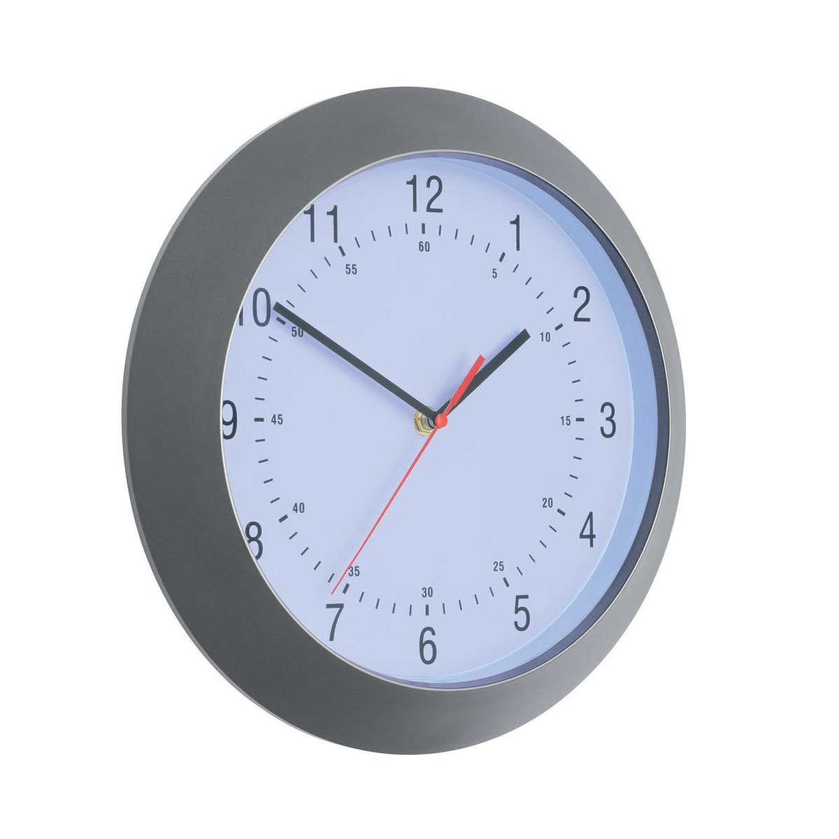 Wall clocks 5 Star Facilities Wall Clock with Coloured Case Diameter 300mm Dark Grey