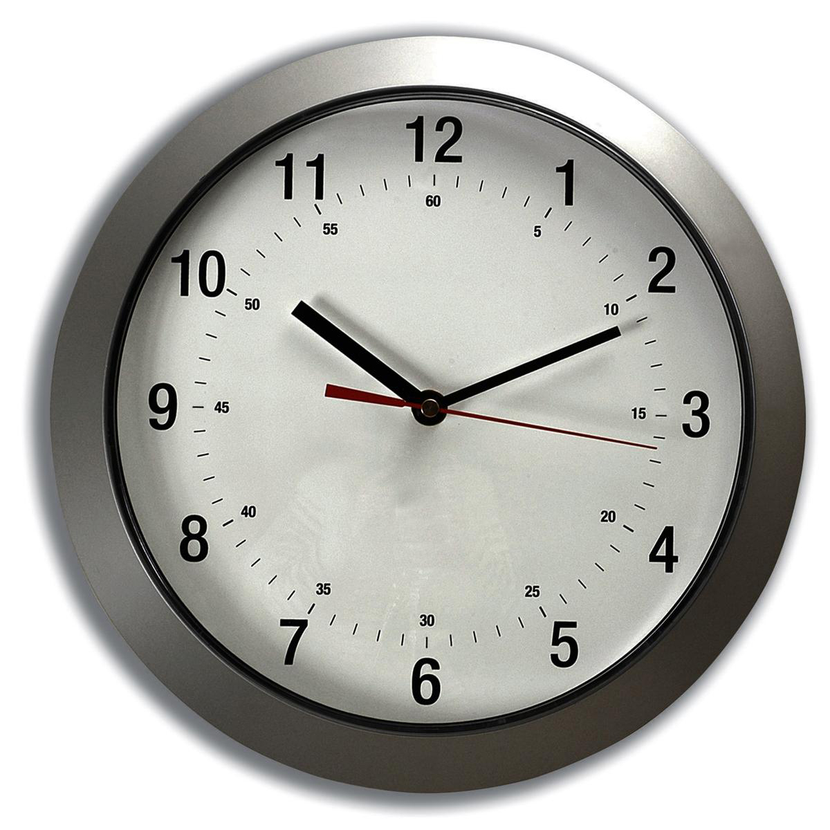 Wall 5 Star Facilities Wall Clock with Coloured Case Diameter 300mm Silver