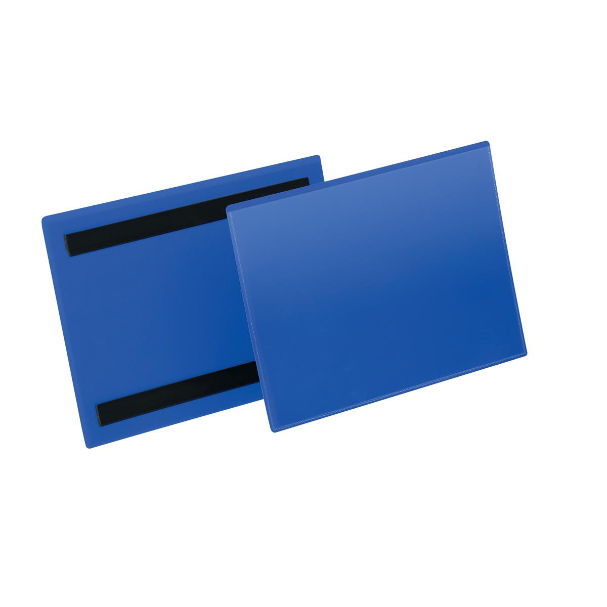 Durable Logistic Pocket Polypropylene with 2 Magnetic Strips A5 Landscape Blue Ref 174307 [Pack 50]
