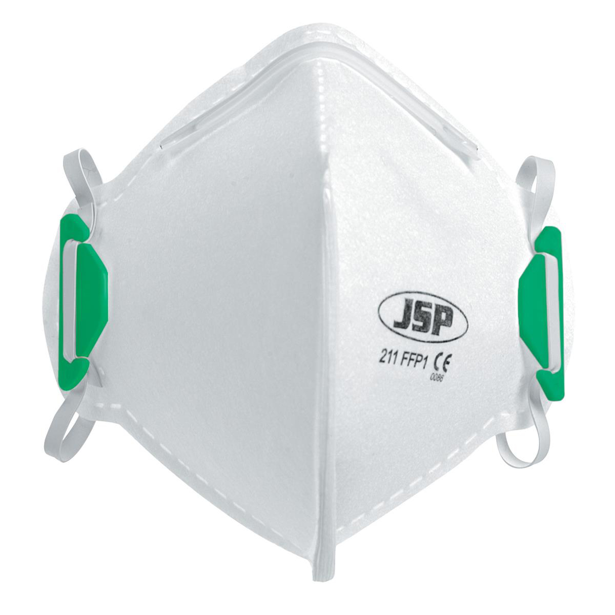 JSP Disposable Mask Fold-flat FFP1 Class 1 EN149:2001 & A1:2009 Standard Ref BEA110-101-000 Pack 20