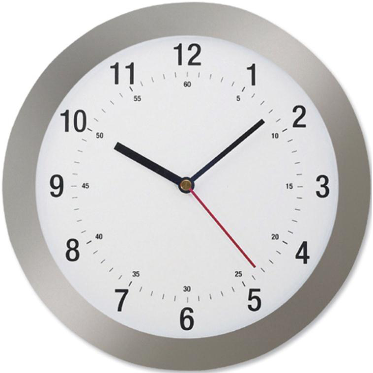 5 Star Fcl Radio ControlClock 300mm Grey