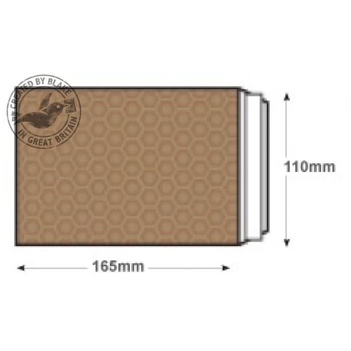 Blake Purely Packaging Padded Bubble Pocket P&S C6 165x100mm Ref A/000GOLD Pk200 *10 Day Leadtime*