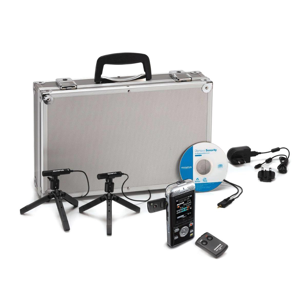 Image for Olympus DM-901 Conference Kit with Digital V-Recorder Microphones Remote Control Silver Ref V407141BE020