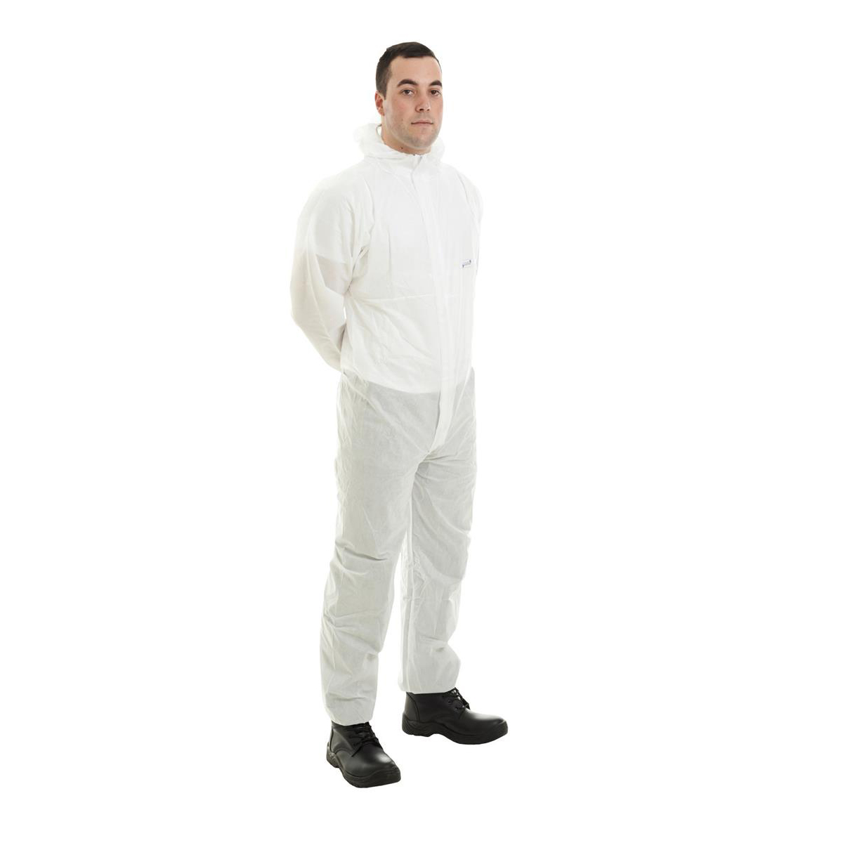 Supertouch Supertex SMS Coverall Type 5/6 Protection Small White Ref 17601 *Approx 3 Day Leadtime*