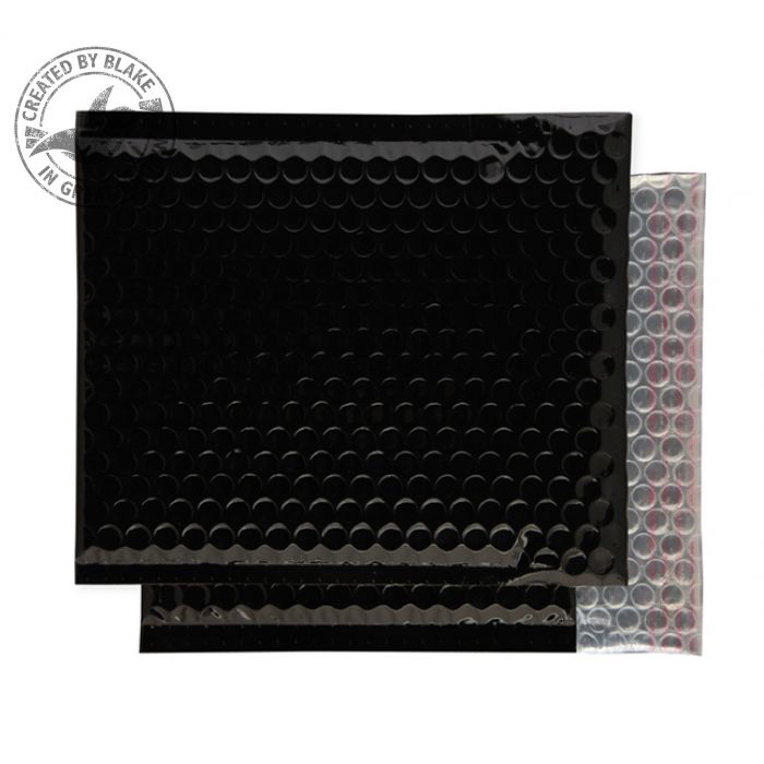 Purely Packaging Envelope P&S 230x230mm Bubble Metallic Black Ref MBB230 [Pk 100] *3 to 5 Day Leadtime*